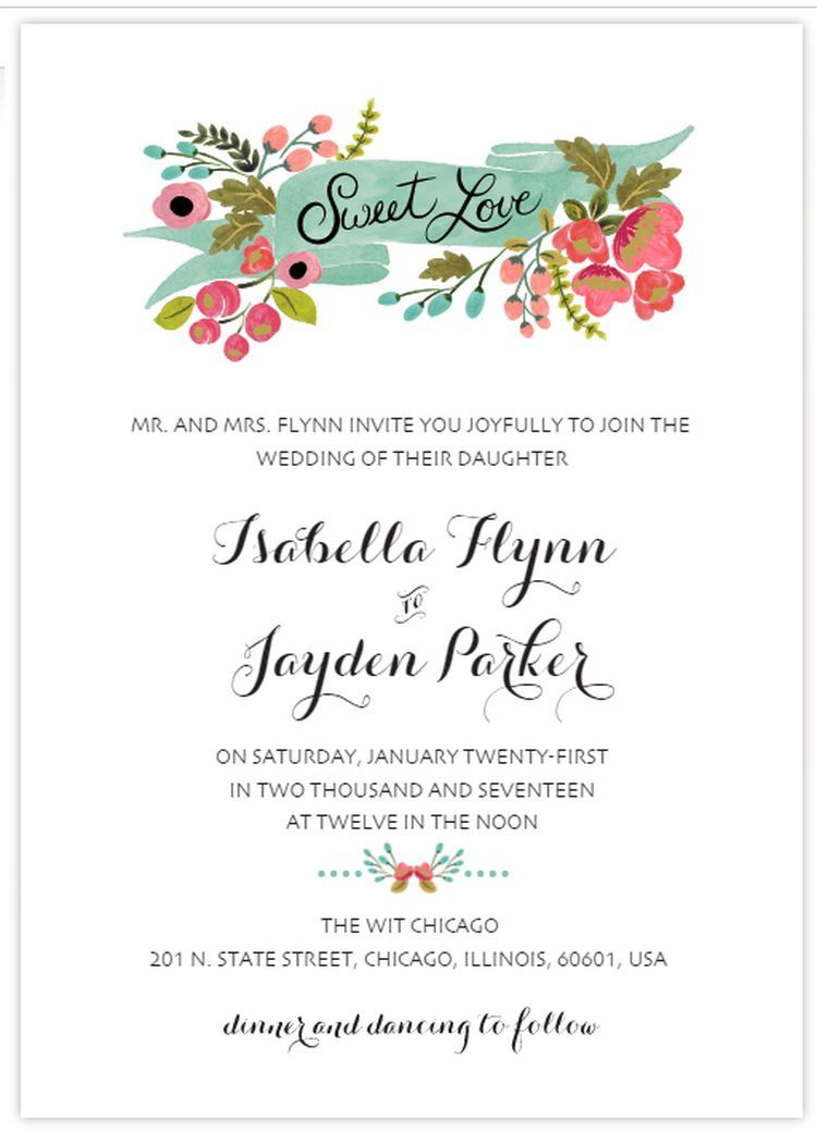 Create Your Own Wedding Invitations With These Free Templates Printable