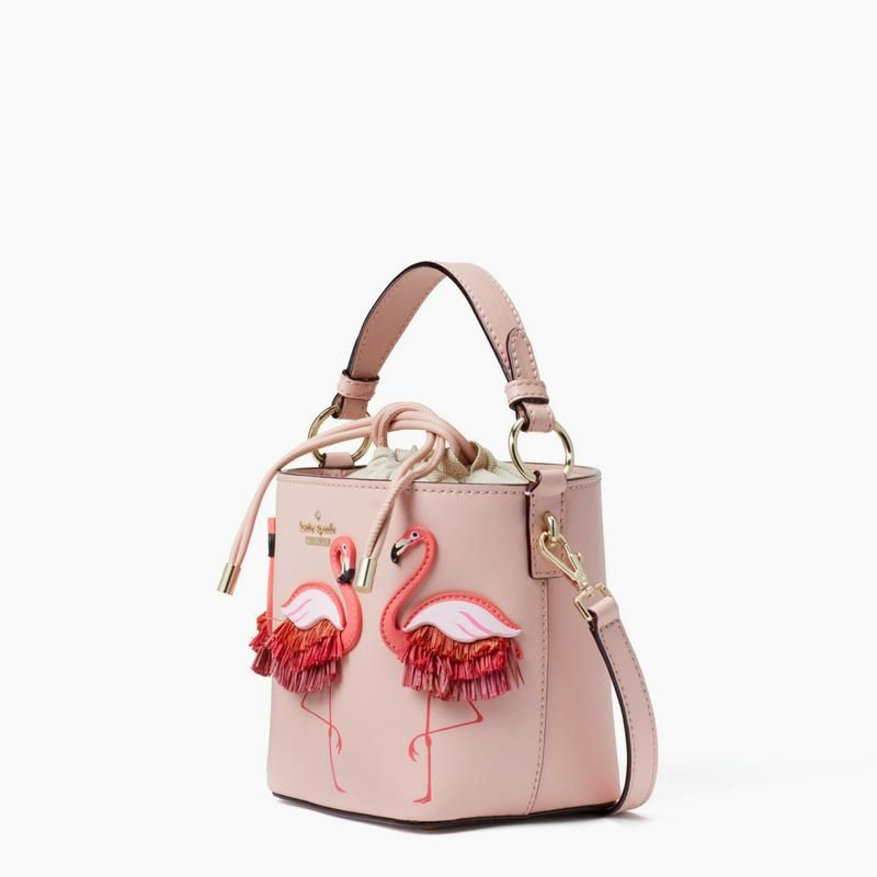 13a050cb85f6b By the Pool Flamingo Pippa Bucket Bag kate spade new york (Seven Season).  Adorned with a trio of our favorite feathered friends - matched with a  sporty ...