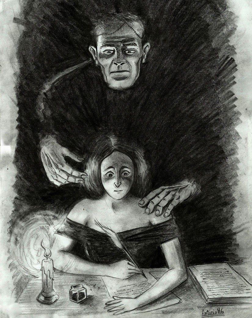 /MaryShelley and Frankenstein by AntonioHG.