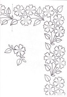 embroidery border pattern - Google Search
