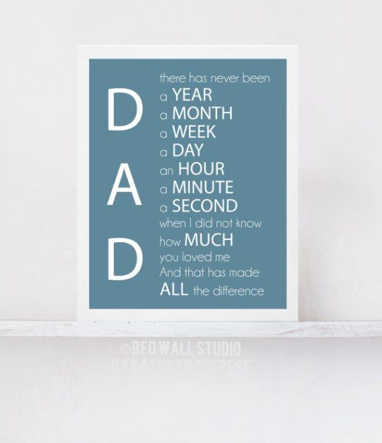 LOVE this quote! Perfect printable gift for Father's Day!