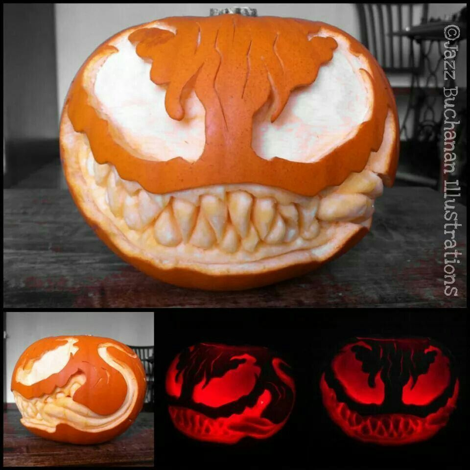 Venom pumpkin #pumkincarvingdesigns