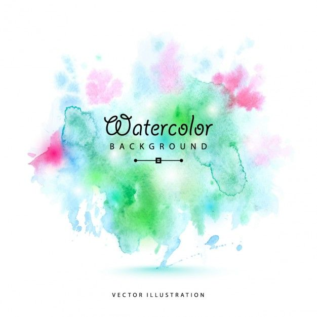 Telechargez Aquarelle Taches Vector Illustration Gratuitement
