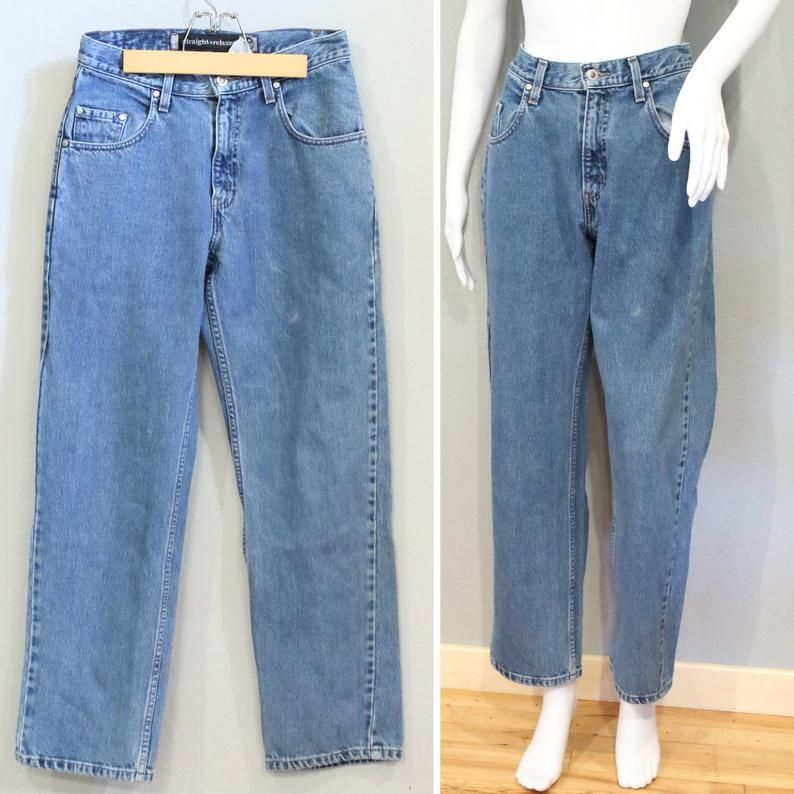 Levis Waist 28 29 Inches Wide Leg Button Fly Silvertab Jeans 90s Mom Jeans Jeans Wide Leg