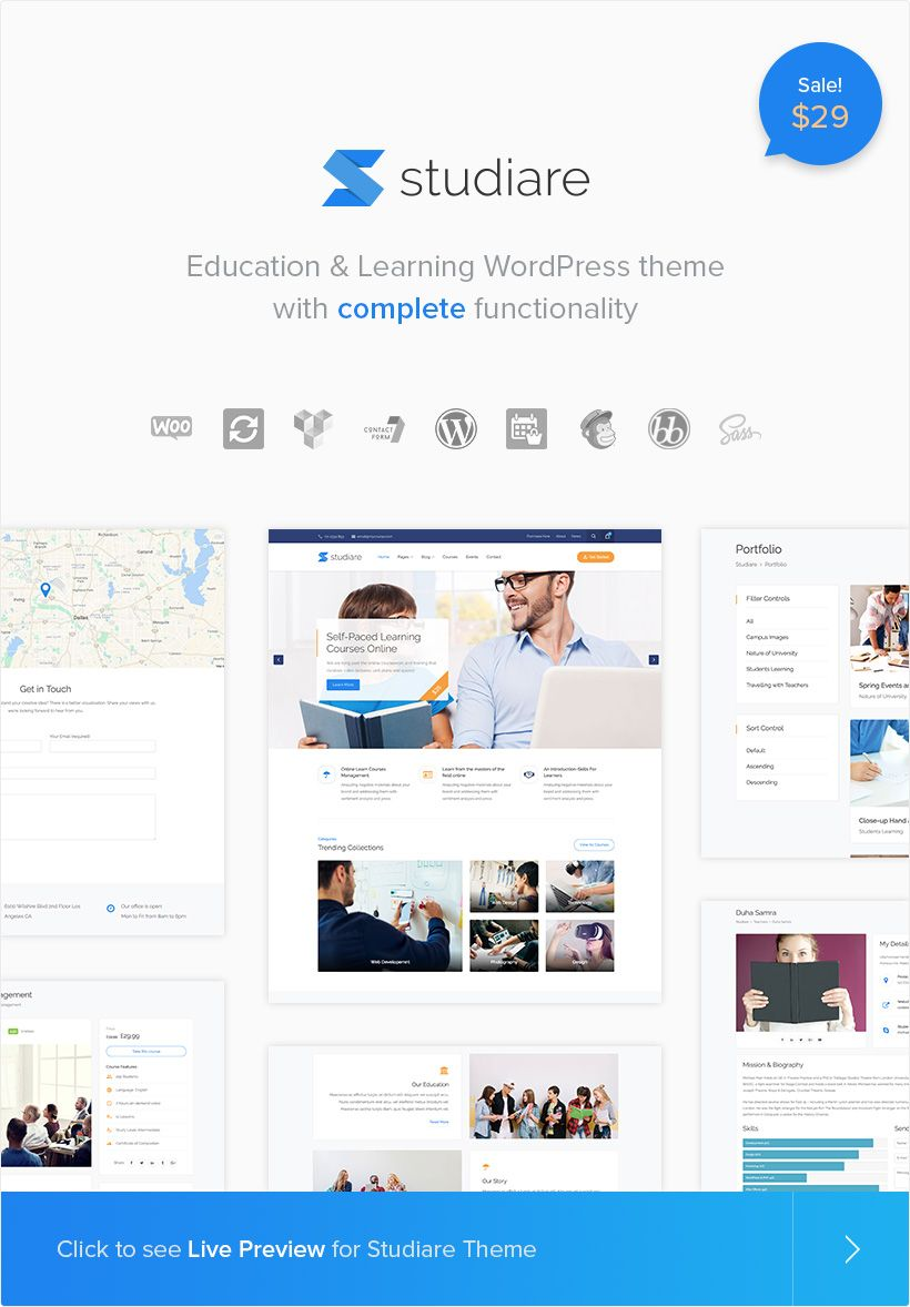 Plantillas Wordpress para educación - STUDIARE THEME - temas ...