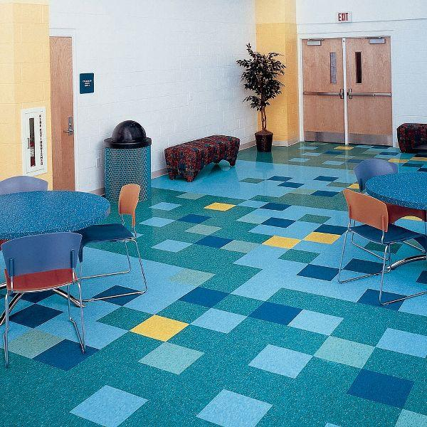 Description Armstrong Marina Blue 12 X 12 Standard Excelon Imperial Texture Is The Most Popular Vinyl C Armstrong Vinyl Flooring Colorful Tile Floor Vct Tile