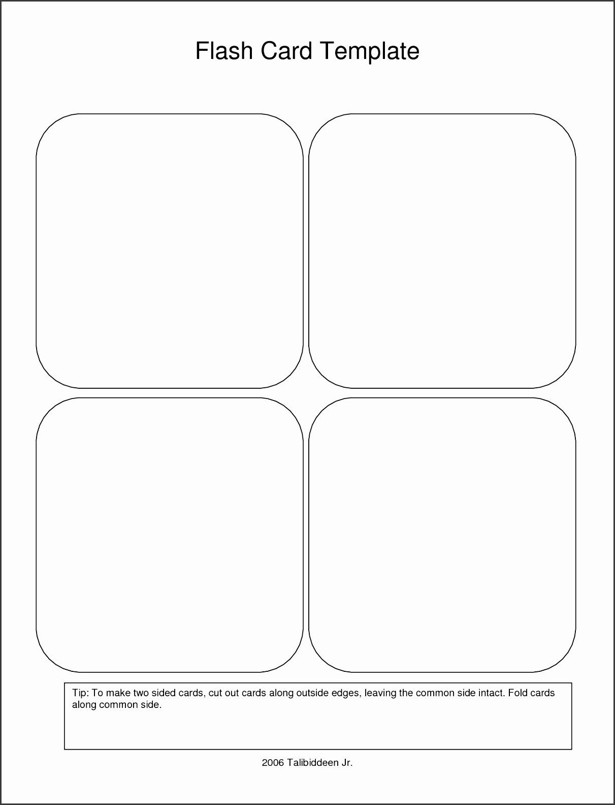 Word Flash Card Template New 9 Free Printable Flash Card Template Sampletemplate Printable Flash Cards Free Printable Card Templates Free Printable Flash Cards