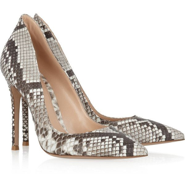 Python pumps ($770) ❤ liked on Polyvore featuring shoes, pumps, heels,. Snake  Skin ...