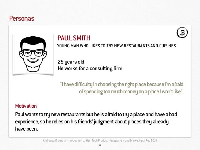 Opentable  Product Requirement Document  Personas