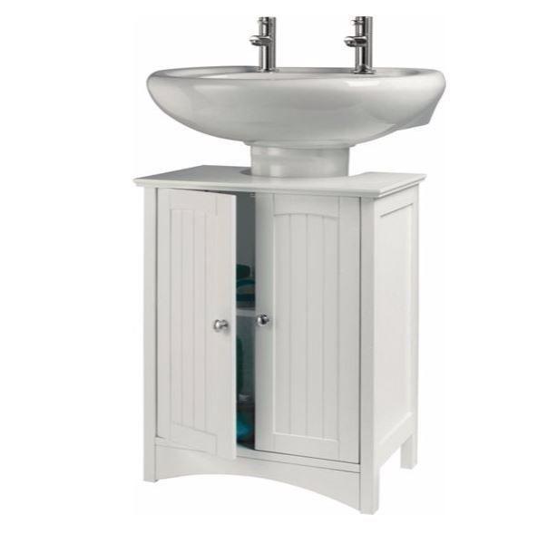 Under Sink Storage Unit White Free Standing Bathroom Cabinet Shelf Bath Rack New Diy Bathroom Storage Bathroom Storage Bench Sink Storage