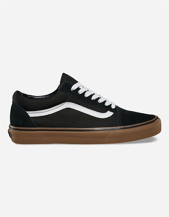 Vans Old Skool Gumsole Mens Shoes Black Khaki In Sizes  c83ee8558