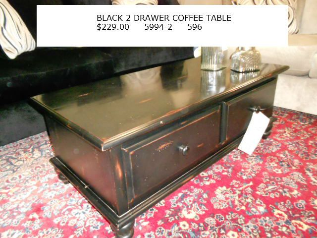 Black Rustic 2 Drawer Coffee Table 229 00 Coffee Table Table