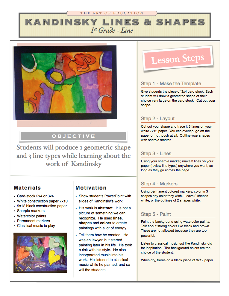 Lesson Plans The Art Of Education University Abstract Art Lesson Art Lessons Elementary Elementary Art Projects