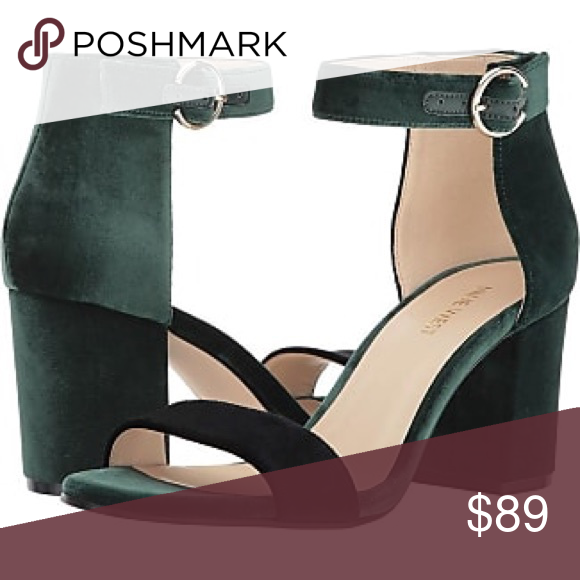 fd27829afb Nine west block heels gorgeous emerald green block heel sandals. Nine West  Shoes Heels