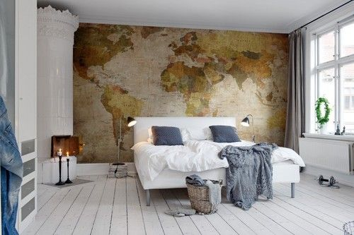 6 idées déco carte du monde | Worldmap, Interiors and Apartments