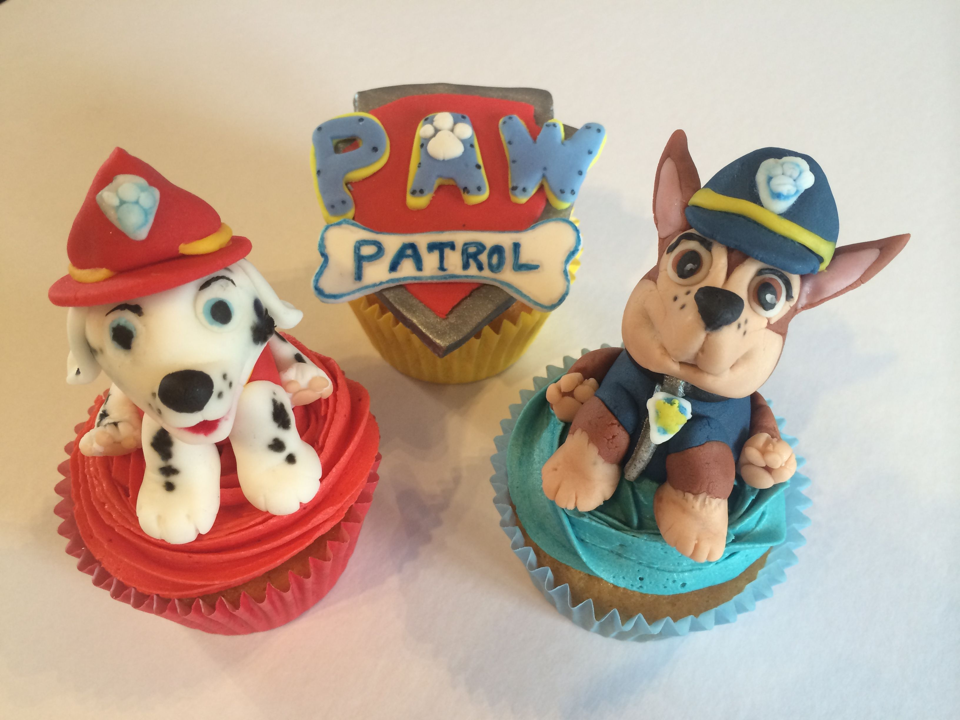 Kids Toys Action Figure: Handmade Fondant Chase & Marshall Dog/puppy Characters