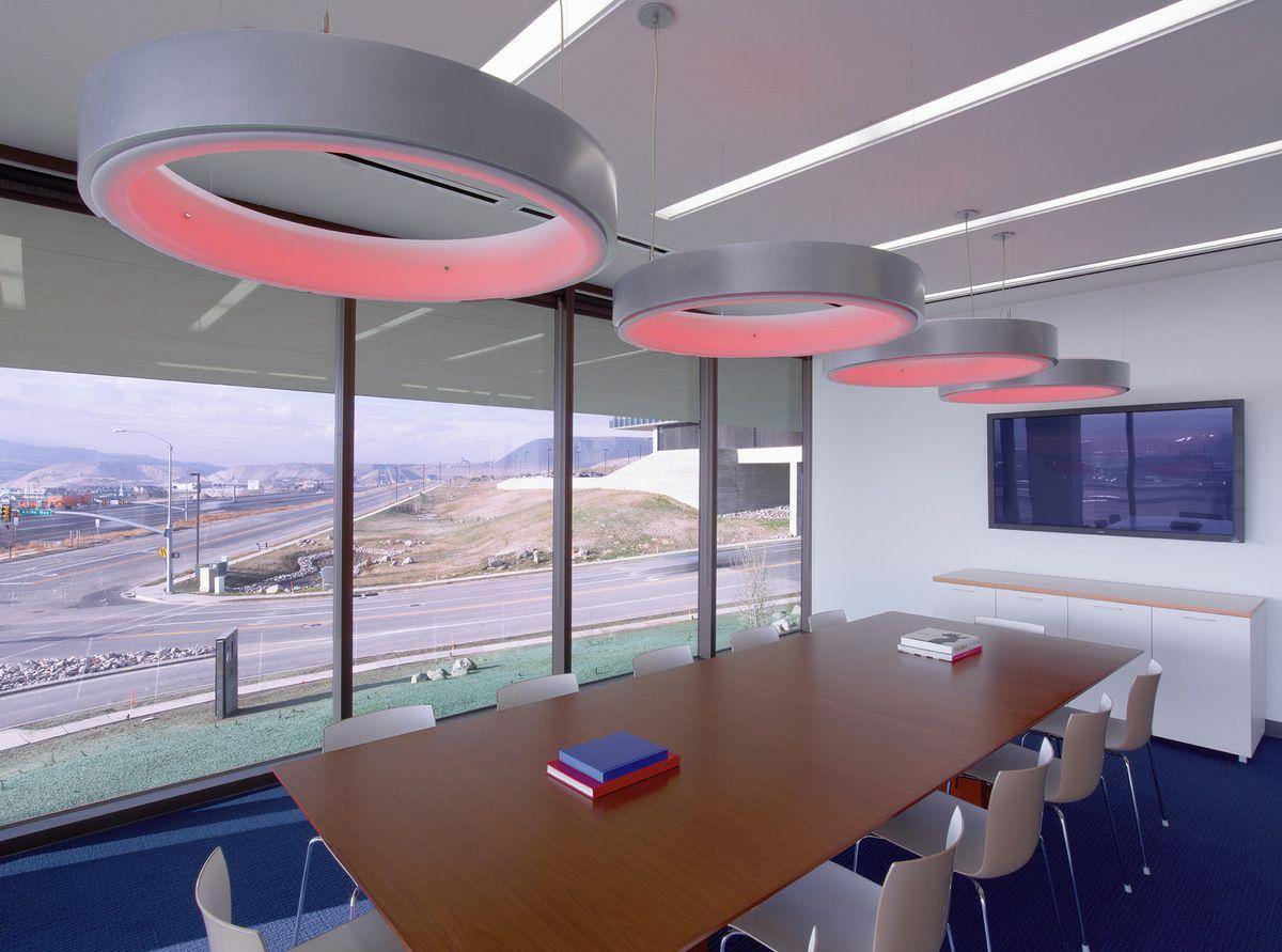 Inside adobe 39 s new utah campus visit city lighting - Interior design lighting companies ...