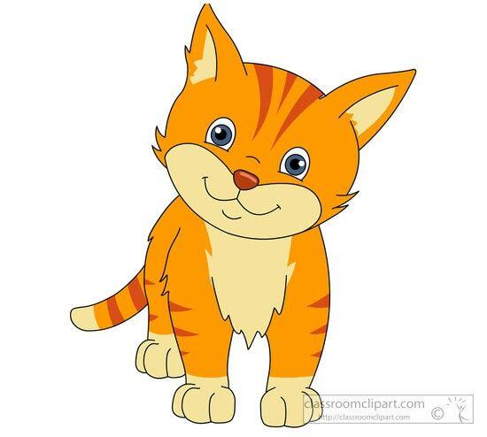 Orange Cat Cat Clipart Free Cats Pets Preschool