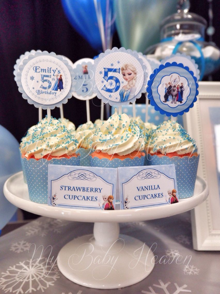 FROZEN Cupcake Toppers Food Name Tag design by My Baby Heaven