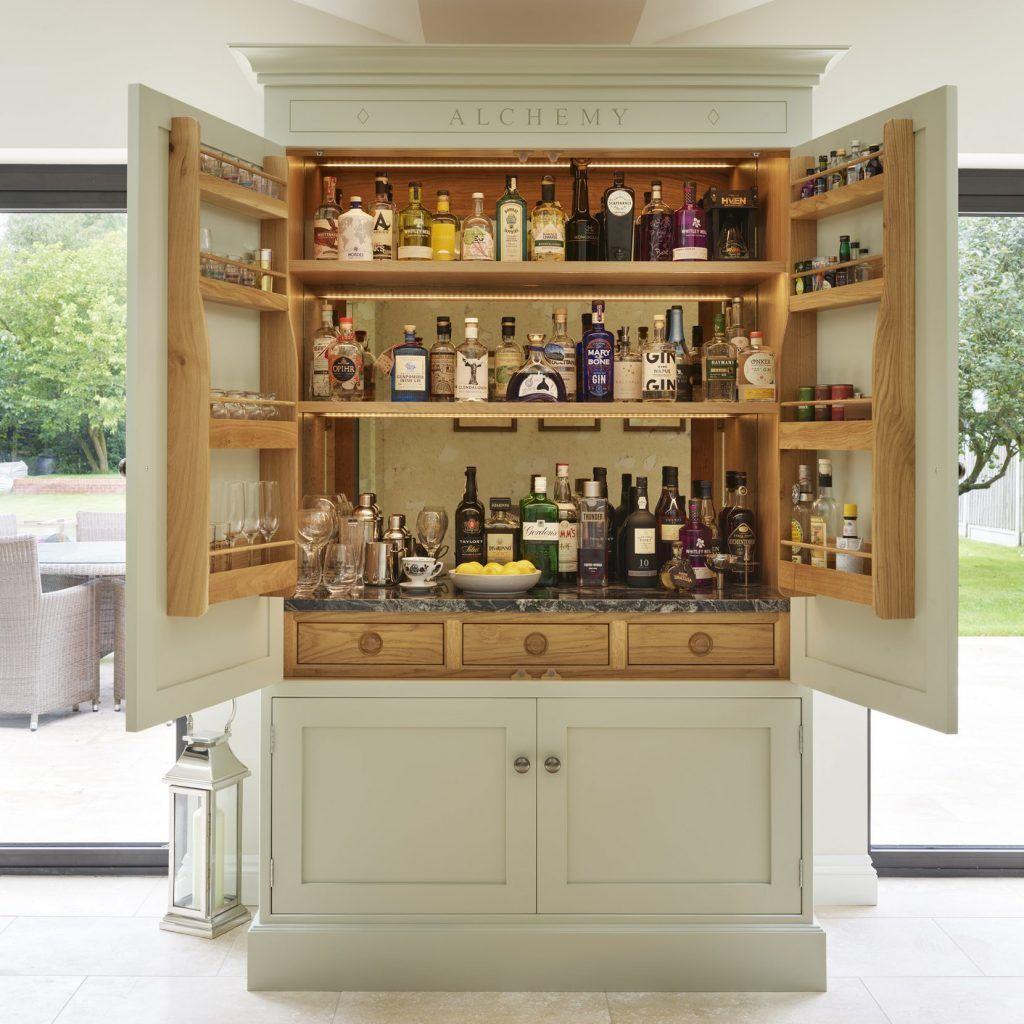 bespoke oak kitchen | drinks cabinet, pantry design