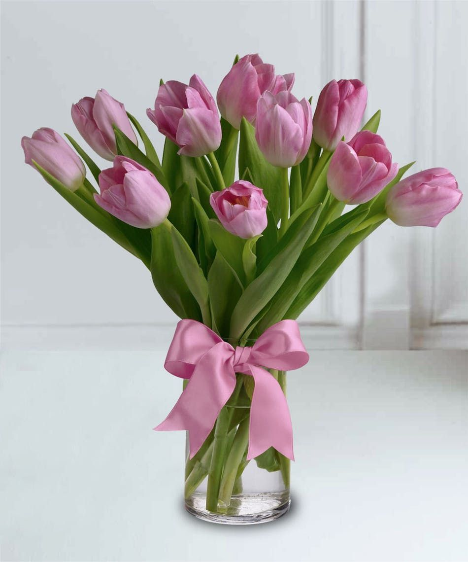 Cute Tulip Bouquet Pink Tulips Bouquet Wedding Flowers Tulips Flower Delivery