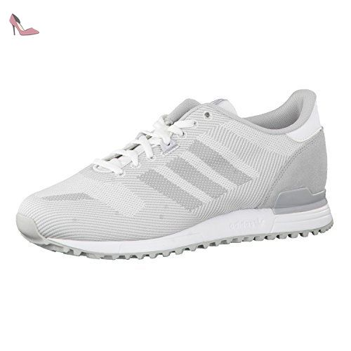 the latest 712e6 536f7 adidas Originals ZX 700 WEAVE W Chaussures Mode Sneakers Femme Cuir Gris adidas  Originals T