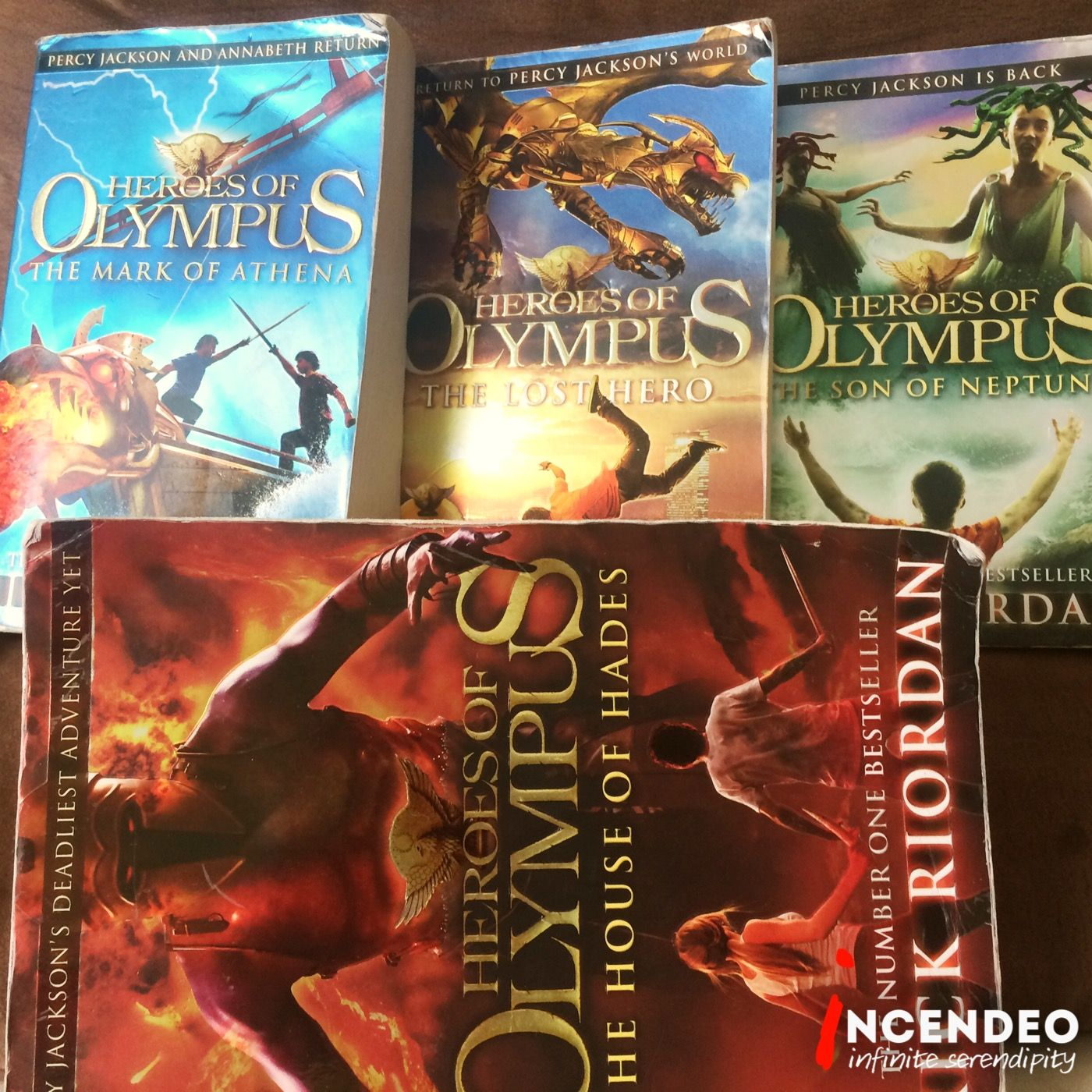 Heroes of olympus story book collections percyjackson