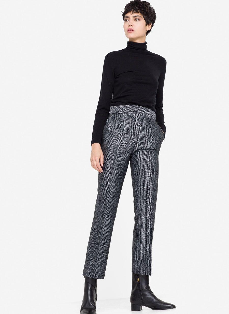 1c16a82a8c3 Pantalón jacquard   Looks   Minimalist fashion, Pants y Trousers