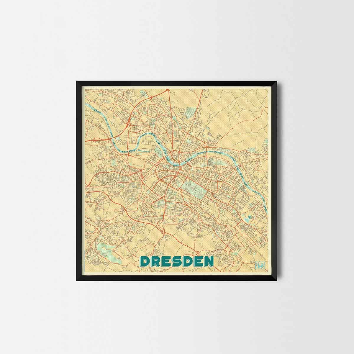 Dresden City Prints - City Art Posters and Map Prints | Geschenke ...