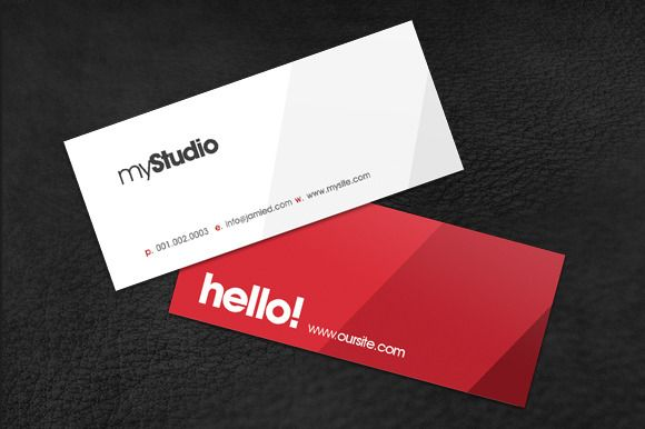 Business Card Templates Modern Mini Card Creative Market - Mini business card template