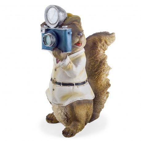 'Felix' The Paparazzi Solar Squirrel Garden Ornament