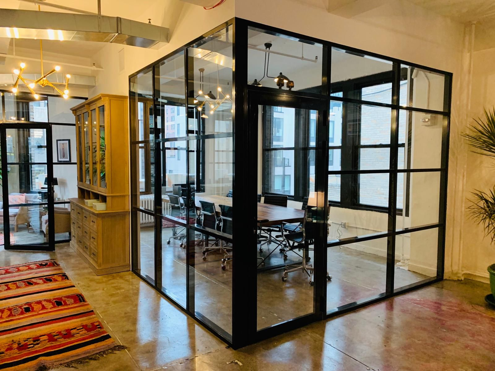 Glass Partition Walls With Aluminium Frame Glass Conference Room