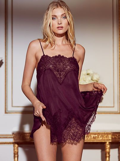 0f588e63dde Victoria s Secret Dream Angels Satin   Lace Babydoll in Ruby Wine ...