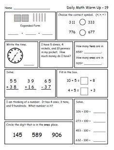 Math for Second Grade (Second Trimester)   kema   2nd grade ...