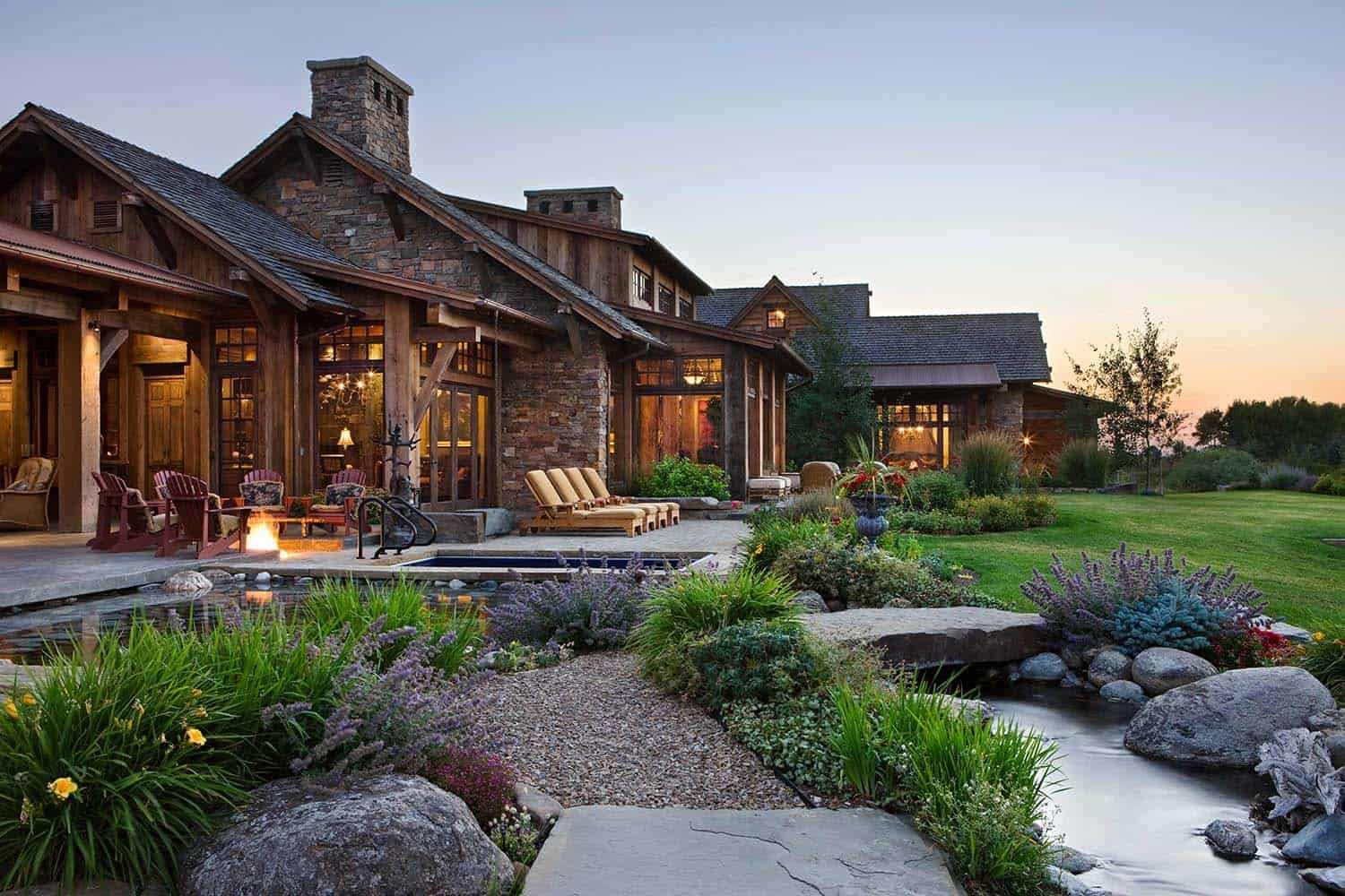 A rustic family pound in the mountains of Montana