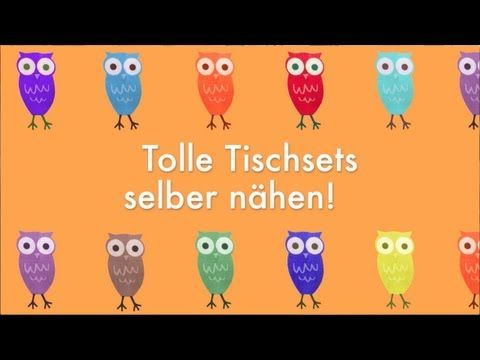 tolle tischsets selber n hen youtube n hen pinterest simple sewing projects sewing. Black Bedroom Furniture Sets. Home Design Ideas