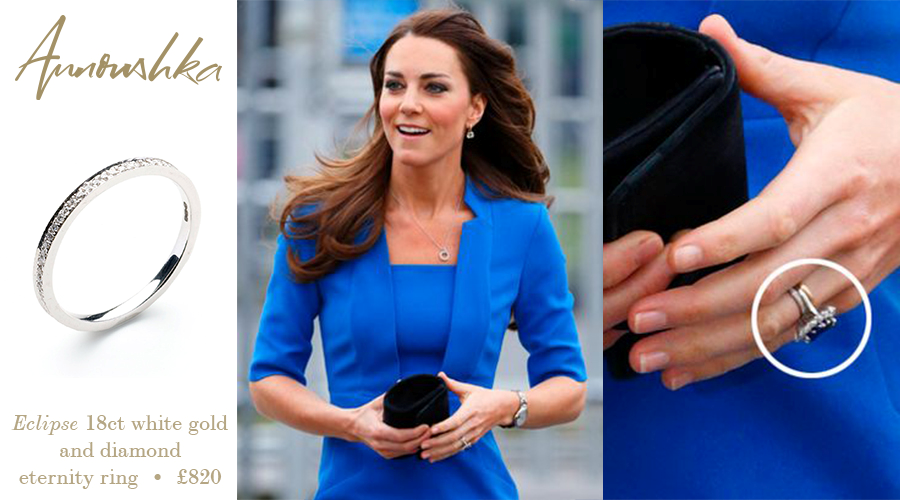 Duchess Catherine Kate Wearing Her Eternity Ring From Annoushka Jewelry Duchess Kate Kate Kate Middleton Jewelry