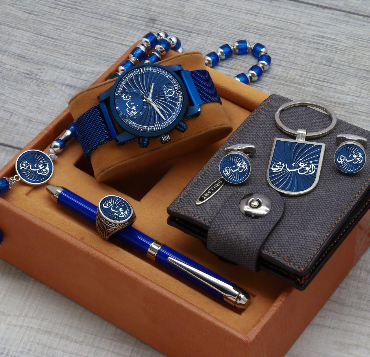 طقم ساعات رجالي ماركة Moment Accessories Watches Wood Watch