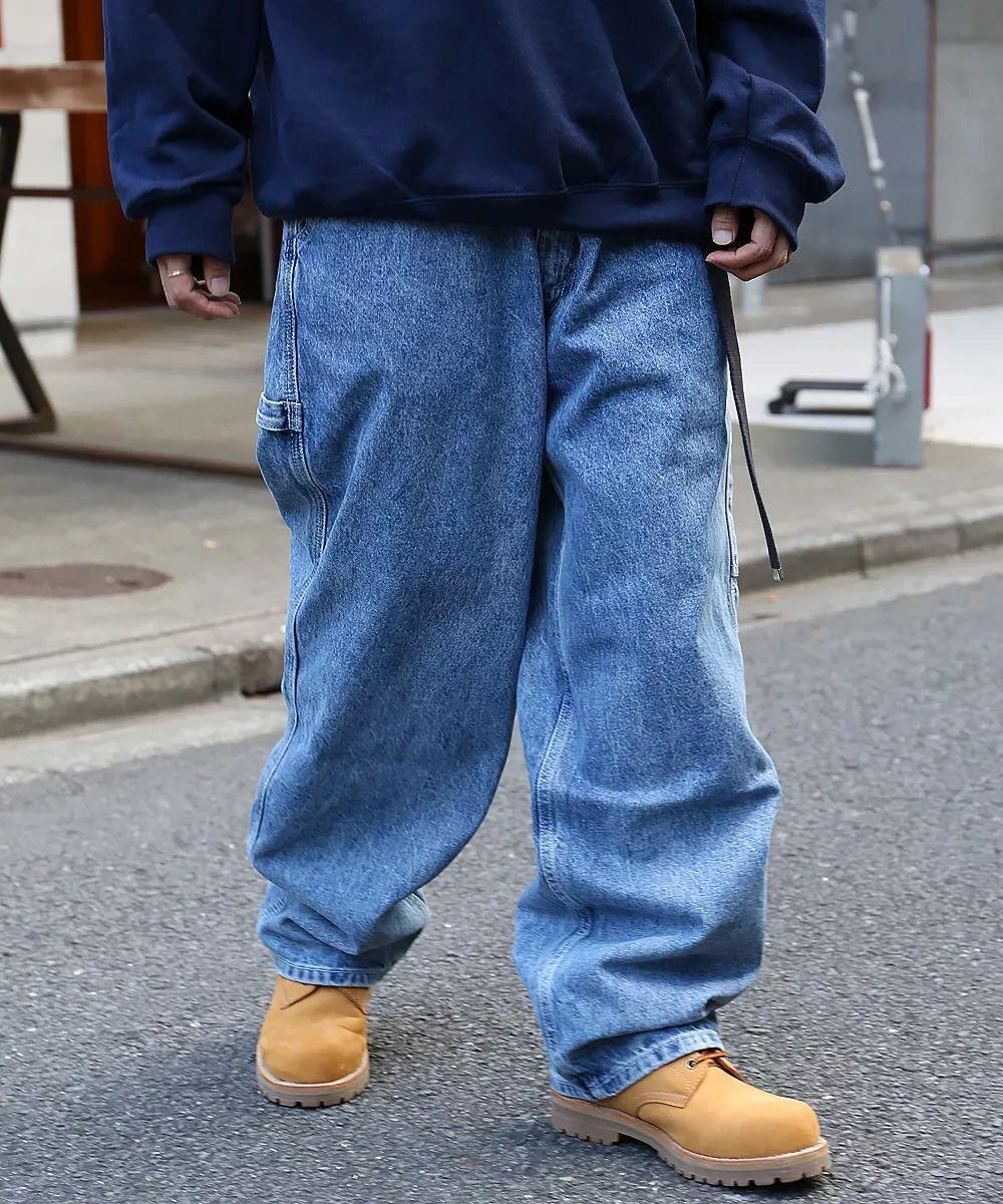 d7d33a14945 2018 Best version kanye west oversize Baggy hypertrophy men jeans Hip Hop  Casual Streetwear wide leg
