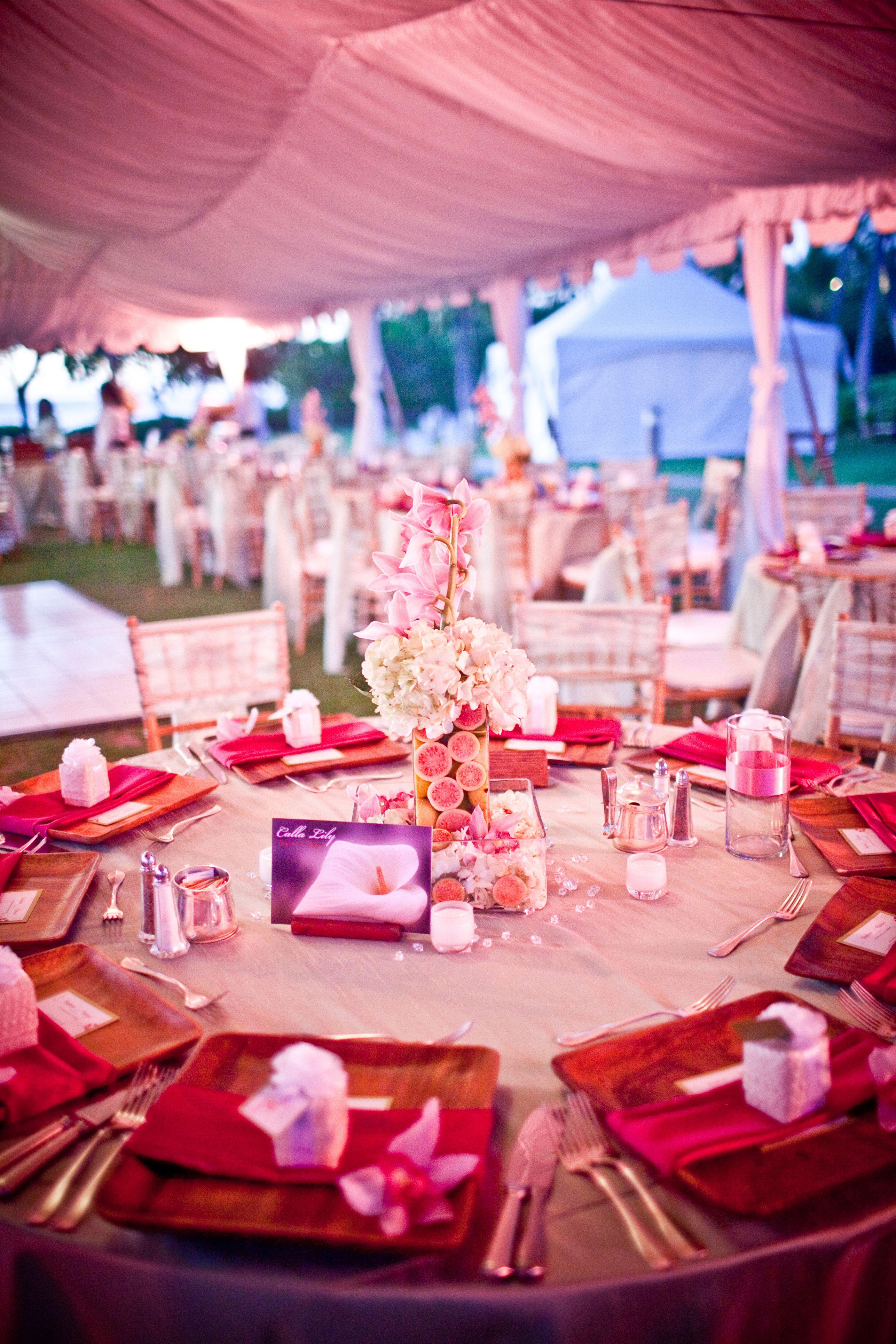 Outdoor wedding reception on Lagoon Lawn   JW Marriott Ihilani ...