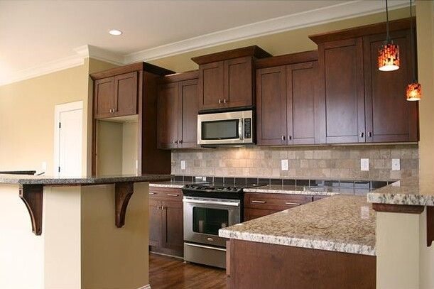 pictures of kitchens with dark shaker cabinets | Timberland Cabinets ...
