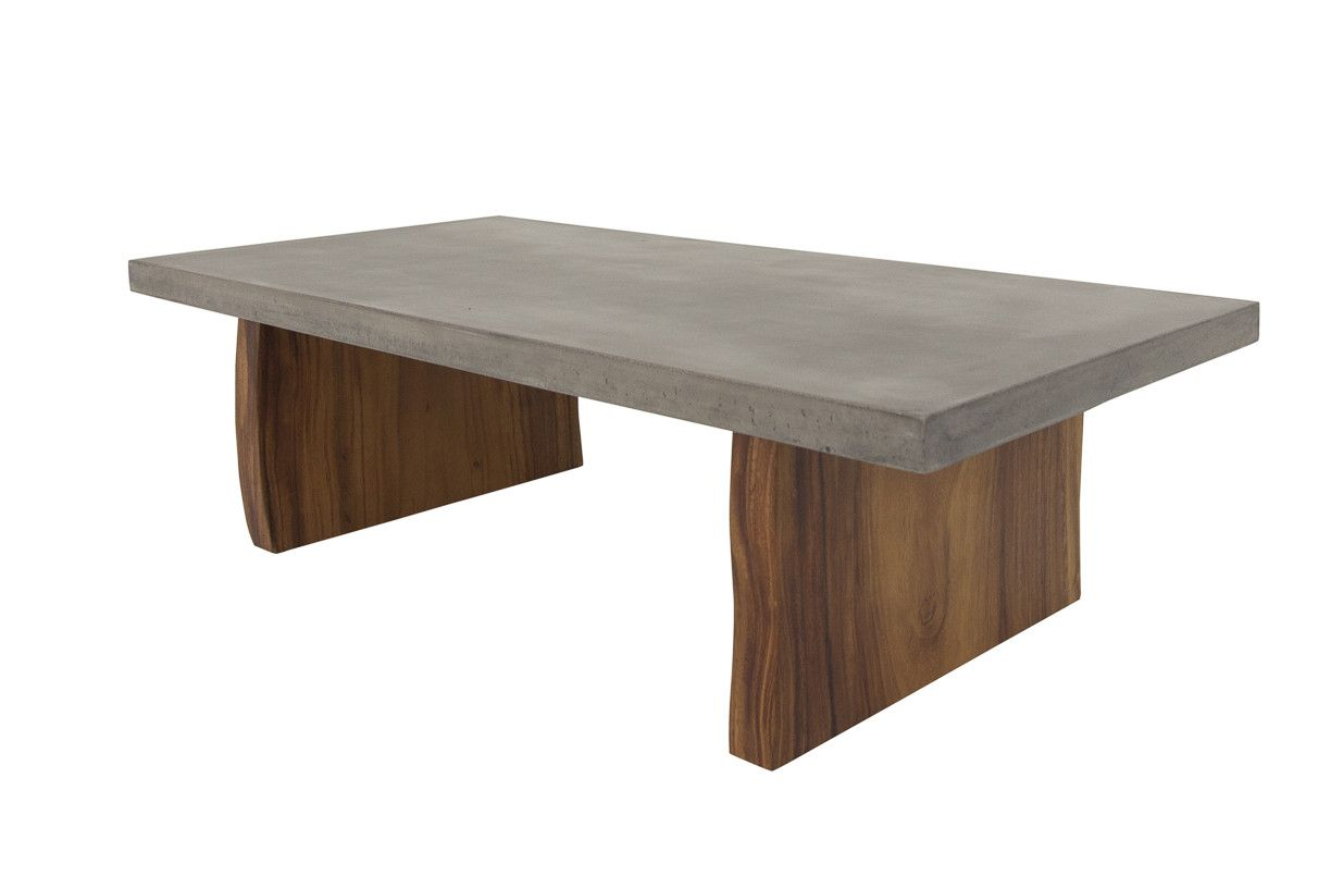 Modern Concrete Coffee Table with Eco slab legs | Modshop | ModShop