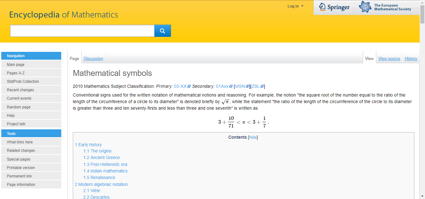 Heres An Interesting Article About The History Of Mathematical