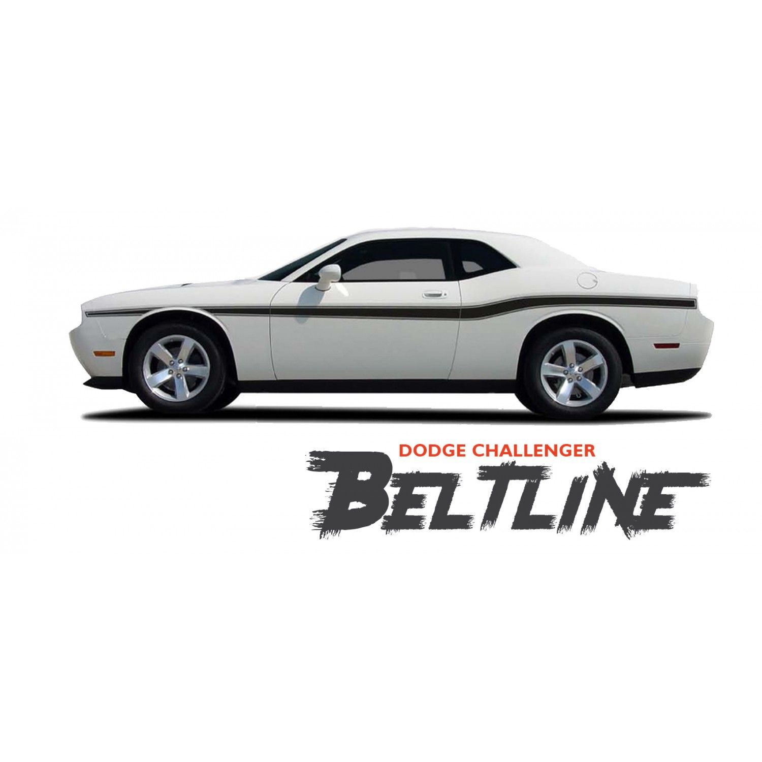 Dodge Challenger Beltline Mid Body Line Accent Stripe Vinyl Graphics Decals Kit For 2010 2011 2012 2013 2014 2015 2016 2017 2018 2019 2020 2021 Dodge Challenger Vinyl Graphics Vinyl For Cars
