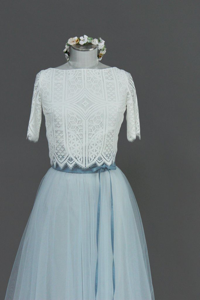 Tüllrock, kurz in Blau für die Hochzeit - Zoe | Outfit ...