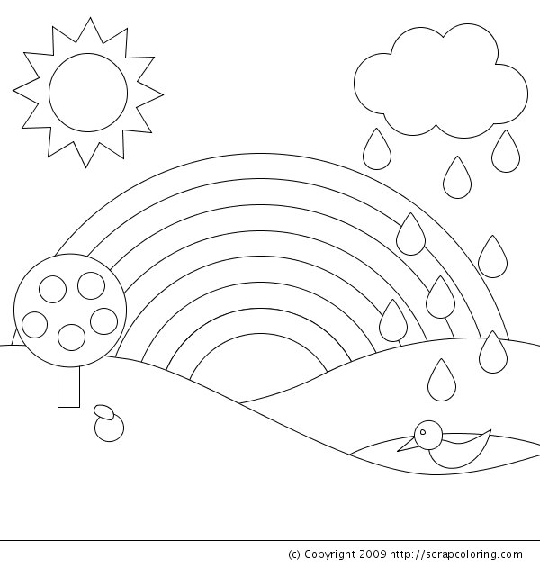 R is for rainbow coloring page Emilys 3rd Birthday Ideas