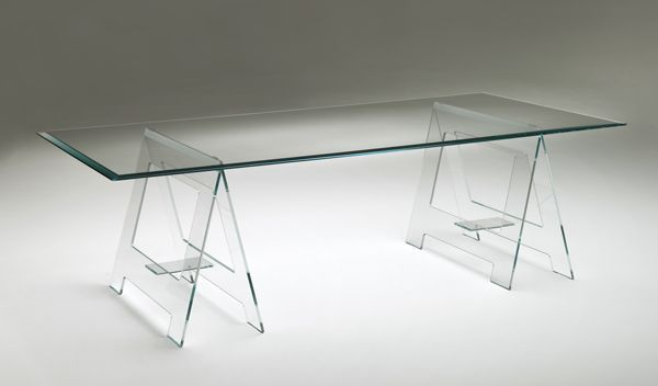 #industrial sawhorse #table Don Cavalletto - designed by Jean-Marie Massaud - Glas Italia