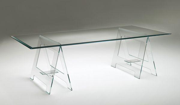 #industrial sawhorse #table Don Cavalletto - designed by Jean-Marie Massaud - Glas Italia