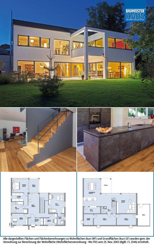 haus nolte die helle wohnfreude auf rund 200 m2 das moderne zweigeschossige eigenheim setzt. Black Bedroom Furniture Sets. Home Design Ideas
