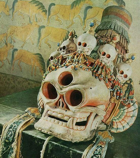Skeleton Lord mask, Tibet བོད Tibetan Buddhism,Chitipati ...
